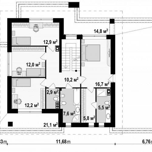 План второго этажа проекта Z291
