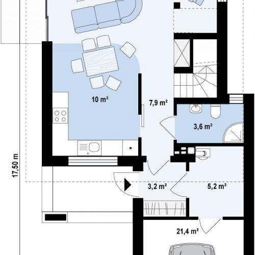 План первого этажа проекта Z297 GF
