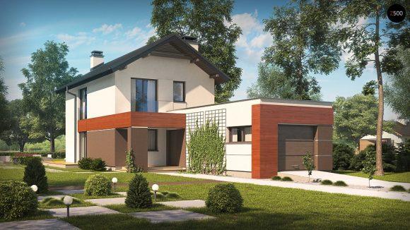 Фото проекта дома Z297 GF вид с улицы