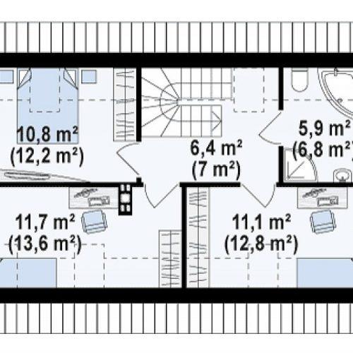 План второго этажа проекта Z298