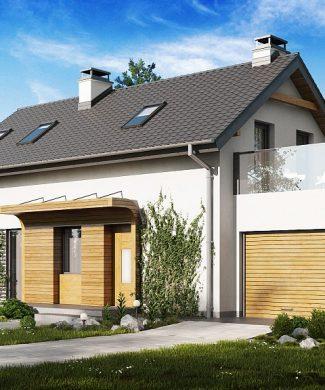 Фото проекта дома Z298 вид с улицы