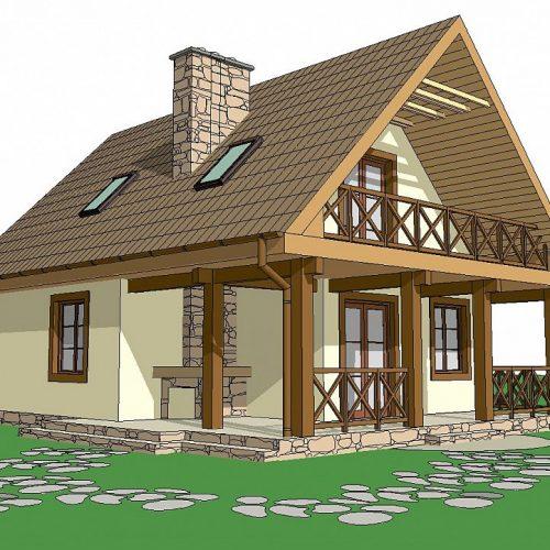 Фото проекта дома Z30 L bl вид 2