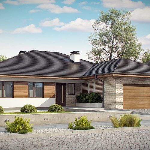 Фото проекта дома Z301 вид с улицы