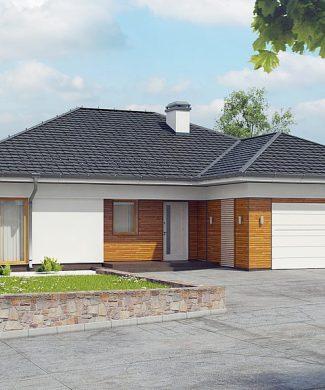 Фото проекта дома Z303 вид с улицы