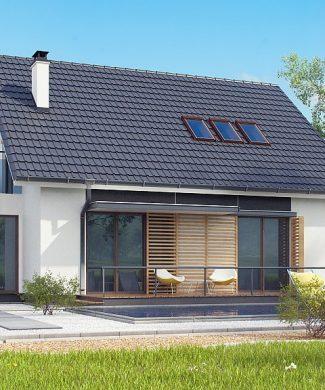 Фото проекта дома Z304 вид с улицы