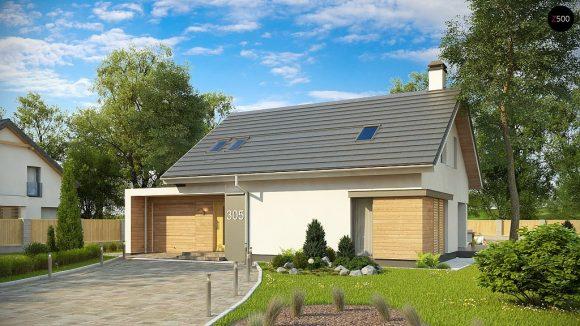 Фото проекта дома Z305 вид с улицы