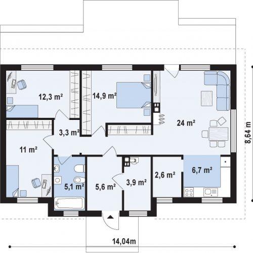 План первого этажа проекта Z309