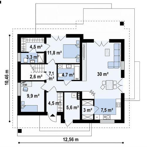 План первого этажа проекта Z316 p