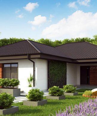 Фото проекта дома Z317 вид с улицы