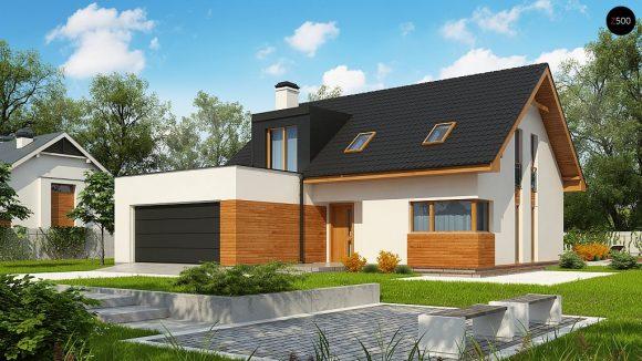 Фото проекта дома Z320 вид с улицы