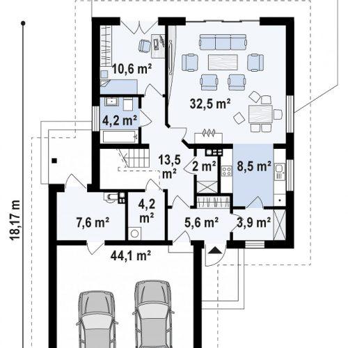 План первого этажа проекта Z325