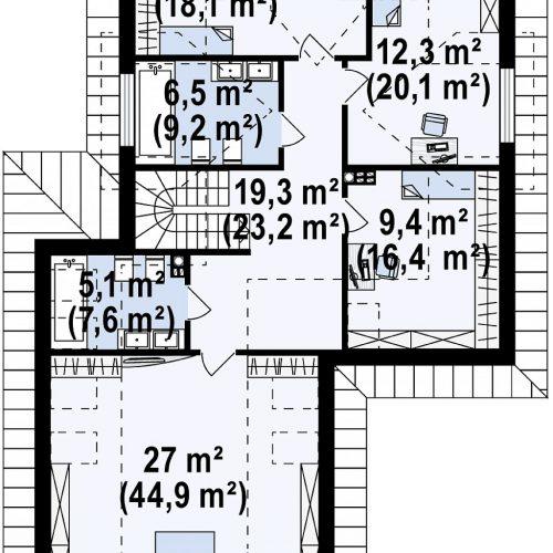 План второго этажа проекта Z325