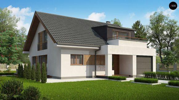 Фото проекта дома Z331 вид с улицы