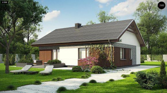 Фото проекта дома Z334 вид с улицы