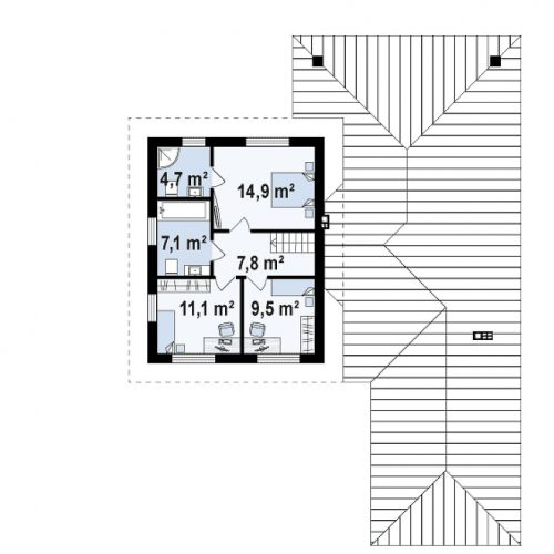 План второго этажа проекта Z335