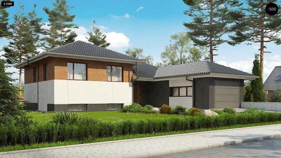 Фото проекта дома Z335 вид с улицы