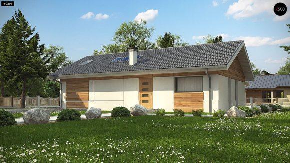 Фото проекта дома Z338 вид с улицы