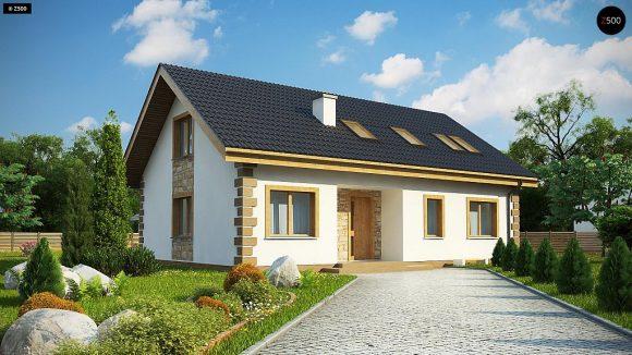Фото проекта дома Z343 вид с улицы