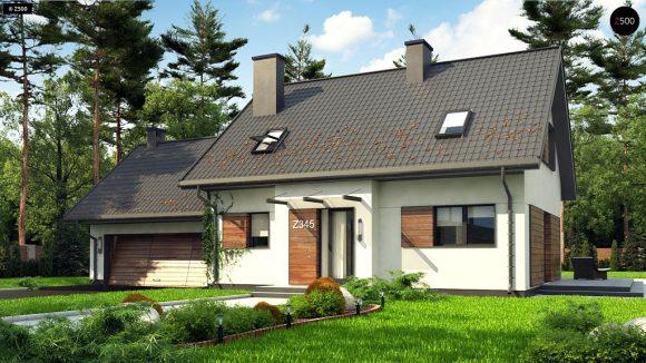 Фото проекта дома Z345 вид с улицы