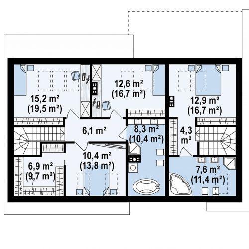 План второго этажа проекта Z346