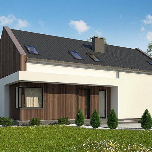 Фото проекта дома Z346 вид с улицы