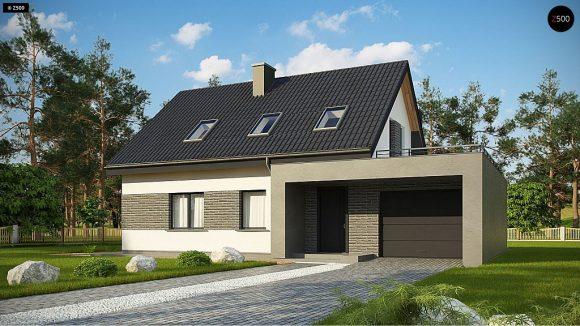 Фото проекта дома Z347 вид с улицы