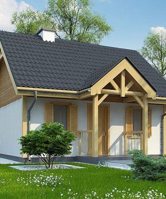 Фото проекта дома Z352 вид с улицы