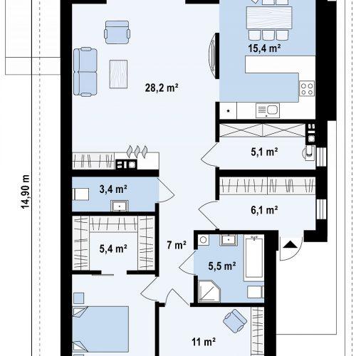 План первого этажа проекта Z356
