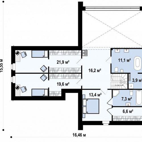 План второго этажа проекта Z357