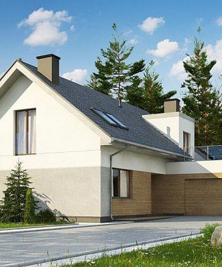 Фото проекта дома Z358 вид с улицы
