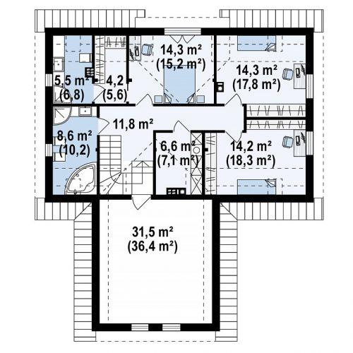 План второго этажа проекта Z359