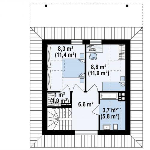 План второго этажа проекта Z362