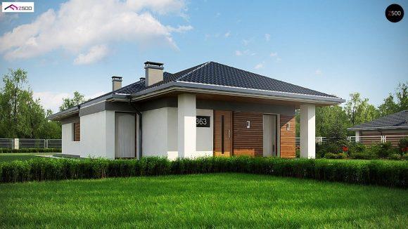 Фото проекта дома Z363 вид с улицы