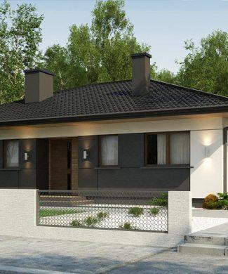 Фото проекта дома Z368 D вид с улицы