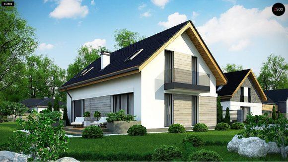 Фото проекта дома Z370 вид с улицы