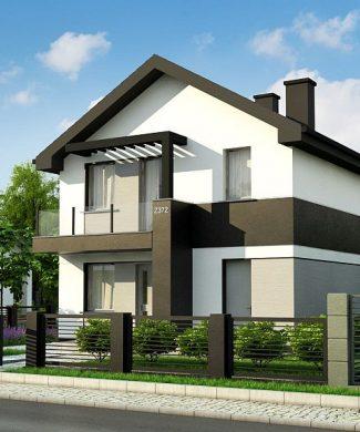 Фото проекта дома Z372 вид с улицы