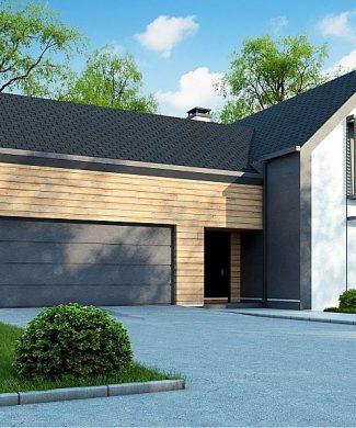 Фото проекта дома Z373 вид с улицы