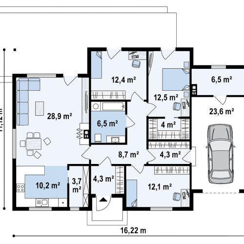 План первого этажа проекта Z375