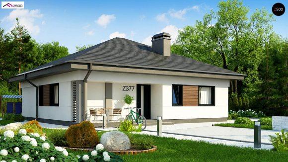 Фото проекта дома Z377 вид с улицы