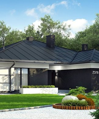 Фото проекта дома Z378 вид с улицы