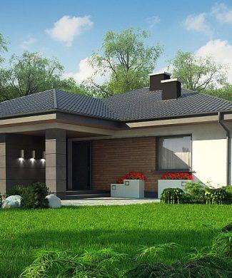 Фото проекта дома Z379 вид с улицы