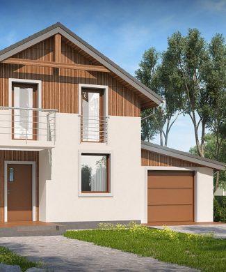 Фото проекта дома Z38 D L GP вид с улицы