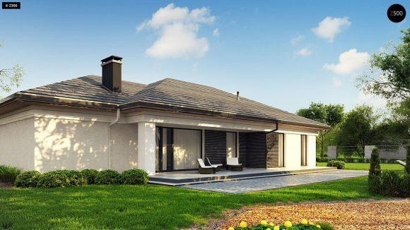 Фото проекта дома Z380 вид с улицы