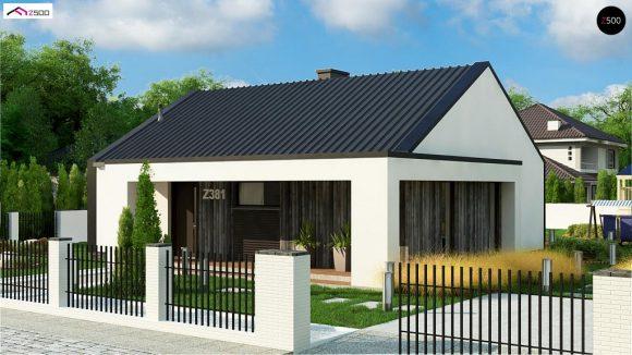 Фото проекта дома Z381 вид с улицы