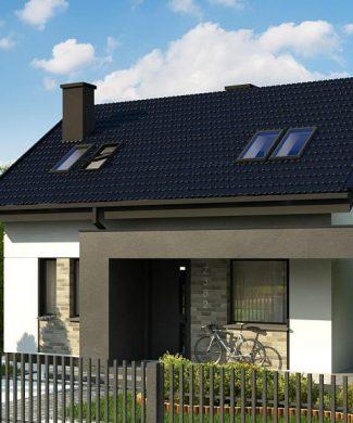 Фото проекта дома Z382 вид с улицы