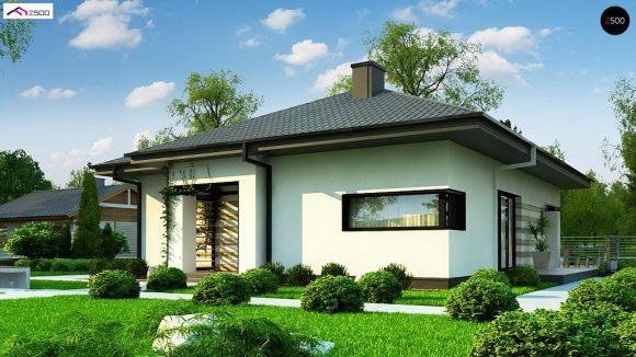 Фото проекта дома Z383 вид с улицы