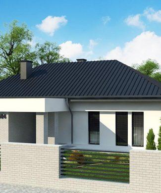 Фото проекта дома Z384 вид с улицы
