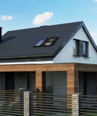 Фото проекта дома Z385 вид с улицы
