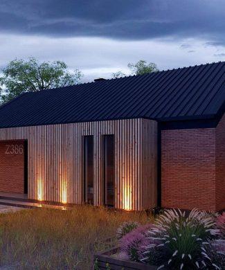 Фото проекта дома Z386 вид с улицы