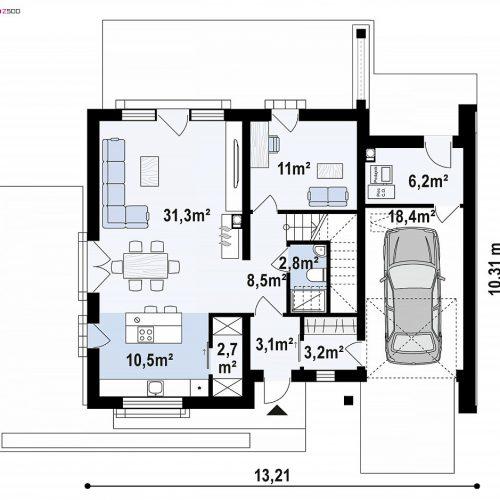 План первого этажа проекта Z391